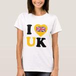 Amo Reino Unido Playera