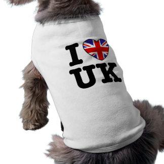 Amo Reino Unido Playera Sin Mangas Para Perro