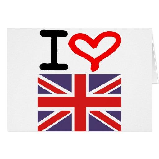 Amo Reino Unido Tarjeta De Felicitación