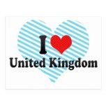 Amo Reino Unido Tarjetas Postales