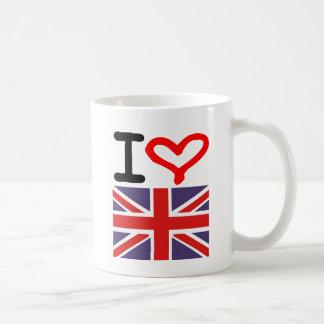 Amo Reino Unido Taza