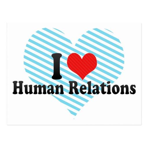 Amo relaciones humanas postales