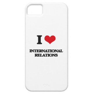 Amo relaciones internacionales iPhone 5 funda