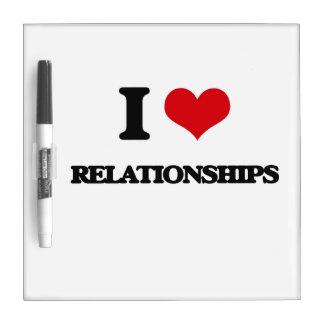 Amo relaciones pizarras blancas