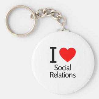 Amo relaciones sociales llavero