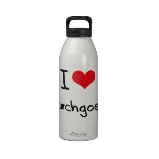 Amo religiosos practicantes botella de agua