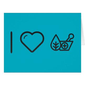 Amo remedios naturales tarjeta de felicitación grande