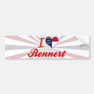 Amo Rennert Carolina del Norte Etiqueta De Parachoque