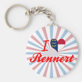 Amo Rennert Carolina del Norte Llavero Personalizado