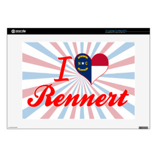 Amo Rennert Carolina del Norte Calcomanía Para Portátil