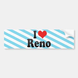 Amo Reno Pegatina De Parachoque