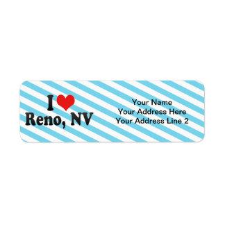 Amo Reno, nanovoltio Etiqueta De Remite