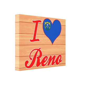 Amo Reno Nevada Lienzo Envuelto Para Galerías