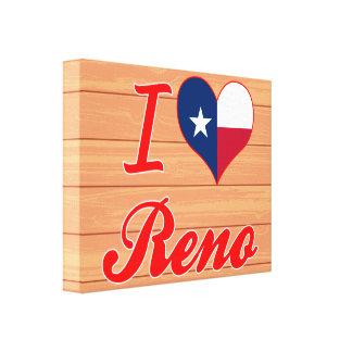 Amo Reno Tejas Impresión De Lienzo
