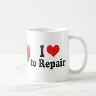 Amo reparar tazas de café