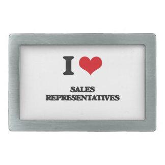 Amo representantes de ventas hebilla de cinturón rectangular