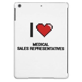 Amo representantes de ventas médicos funda para iPad air