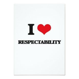 """Amo respetabilidad invitación 5"""" x 7"""""""