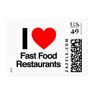 amo restaurantes de los alimentos de preparación r sello