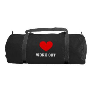 Amo resuelvo el bolso del gimnasio de la lona para bolsa de deporte