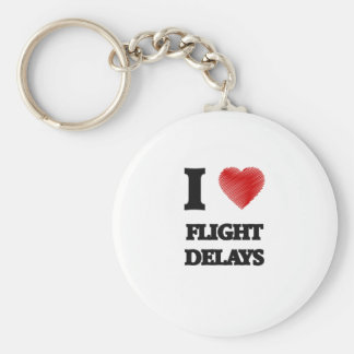 Amo retrasos de vuelo llavero redondo tipo pin