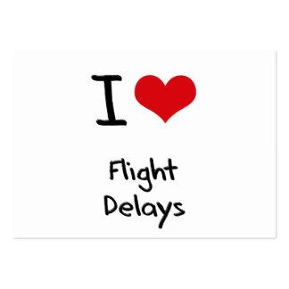 Amo retrasos de vuelo tarjetas personales