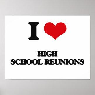 Amo reuniones de la High School secundaria Póster