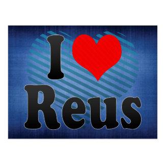 Amo Reus, España. Yo Encanta Reus, España Tarjeta Postal