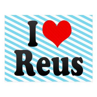 Amo Reus, España. Yo Encanta Reus, España Tarjetas Postales