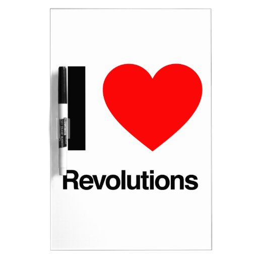 amo revoluciones pizarra blanca