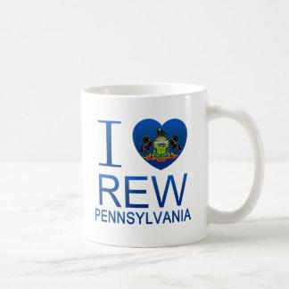 Amo Rew, PA Taza Básica Blanca