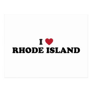 Amo Rhode Island Tarjeta Postal