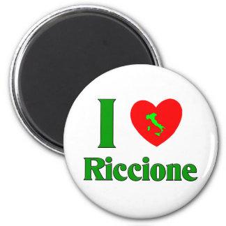 Amo Riccione Italia Imán Redondo 5 Cm