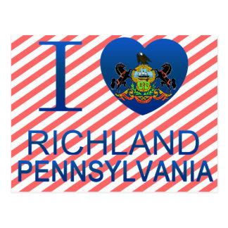 Amo Richland, PA Tarjetas Postales