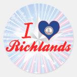 Amo Richlands, Virginia Etiqueta Redonda
