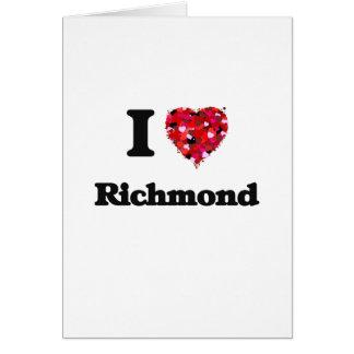 Amo Richmond California Tarjeta De Felicitación