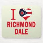 Amo Richmond Dale, Ohio Tapetes De Ratones