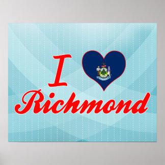 Amo Richmond, Maine Póster