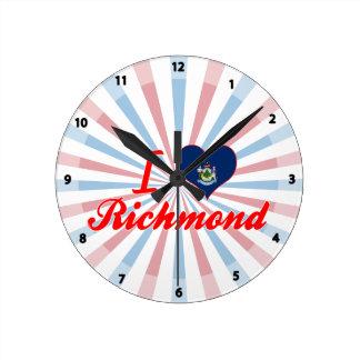 Amo Richmond, Maine Reloj Redondo Mediano