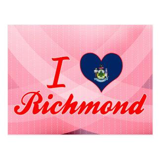 Amo Richmond, Maine Tarjeta Postal