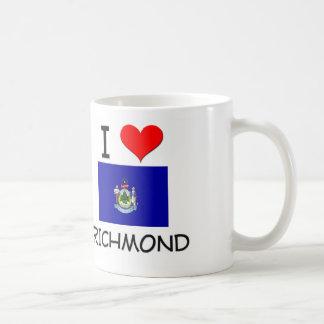 Amo Richmond Maine Taza Básica Blanca