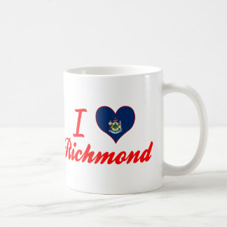 Amo Richmond, Maine Taza Básica Blanca