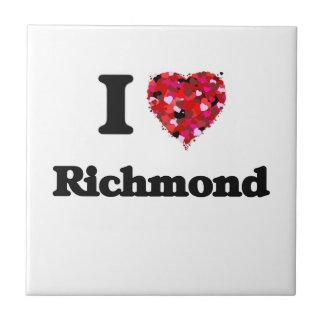 Amo Richmond Virginia Azulejo Cuadrado Pequeño