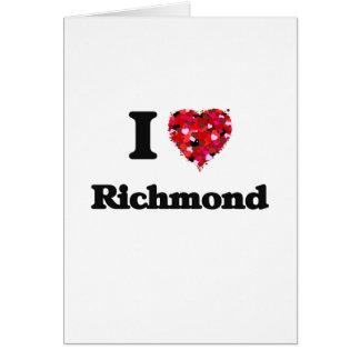 Amo Richmond Virginia Tarjeta De Felicitación