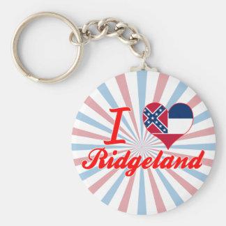 Amo Ridgeland, Mississippi Llaveros Personalizados