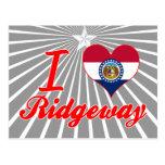 Amo Ridgeway, Missouri Tarjeta Postal