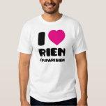 "Amo ""Rien"" que soy Parisien:) Playeras"