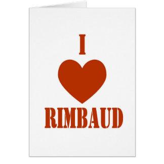 Amo Rimbaud Tarjeta De Felicitación