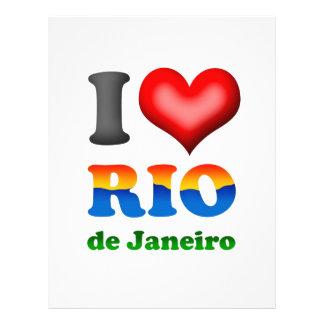 """Amo Río de Janeiro, el Brasil la ciudad maravillos Folleto 8.5"""" X 11"""""""