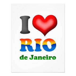 Amo Río de Janeiro el Brasil la ciudad maravillos Invitación